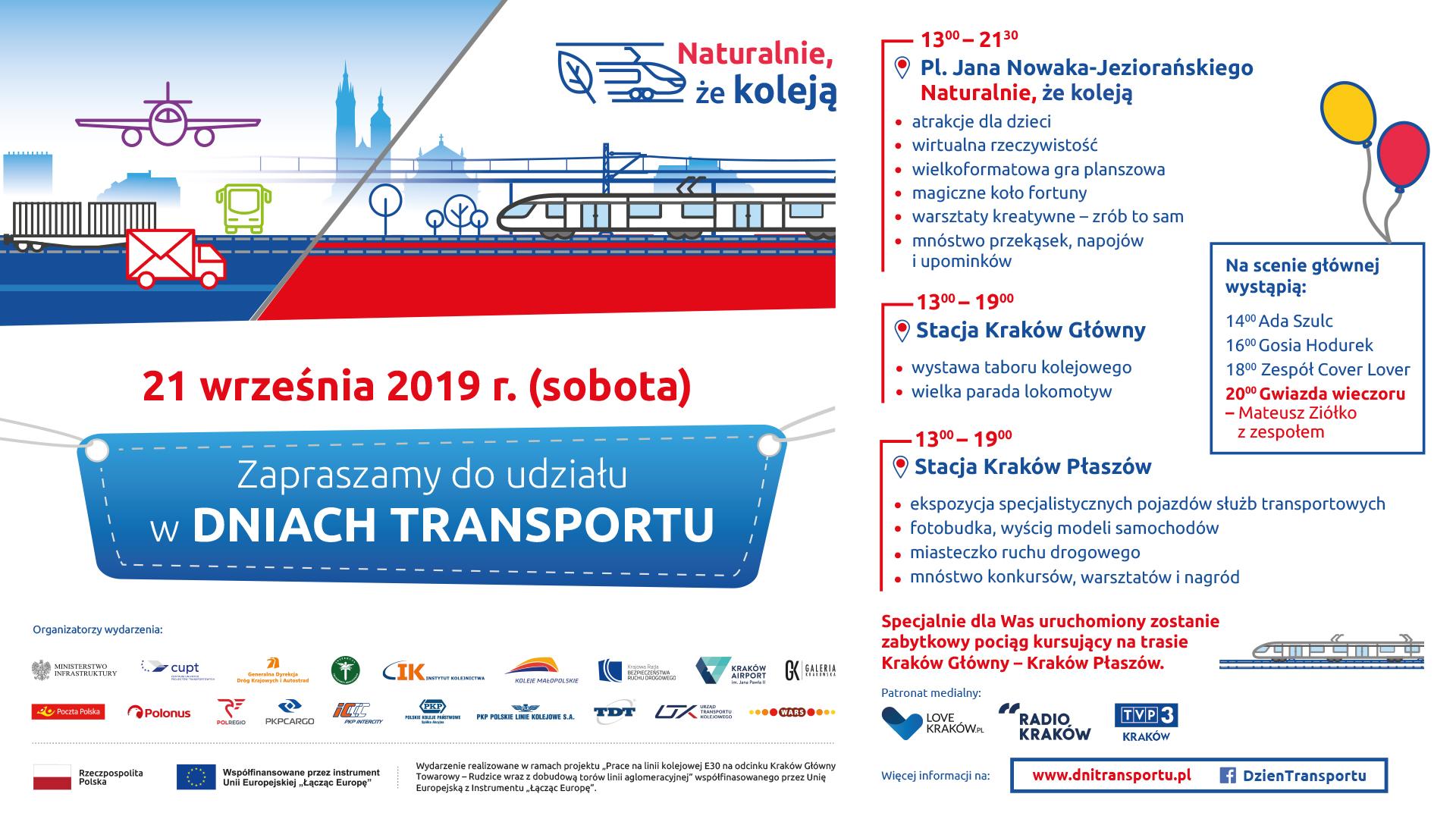 Zaproszenie do udziału w Dniach Transportu 21.09.2019 r. z opisem atrakcji wydarzenia