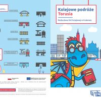 folder o korzyściach z modernizacji krakowskiego węzła kolejowego przeznaczony dla krakowskich przedszkolaków