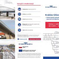 ulotka o wdrożeniu nowego oprogramowania sterujące pracą urządzeń srk w ramach modernizacji krakowskiego węzła kolejowego