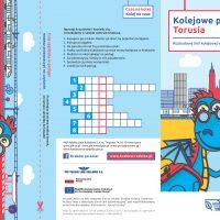 ulotka o modernizacji krakowskiego węzła kolejowego przeznaczona dla uczniów krakowskich szkół podstawowych