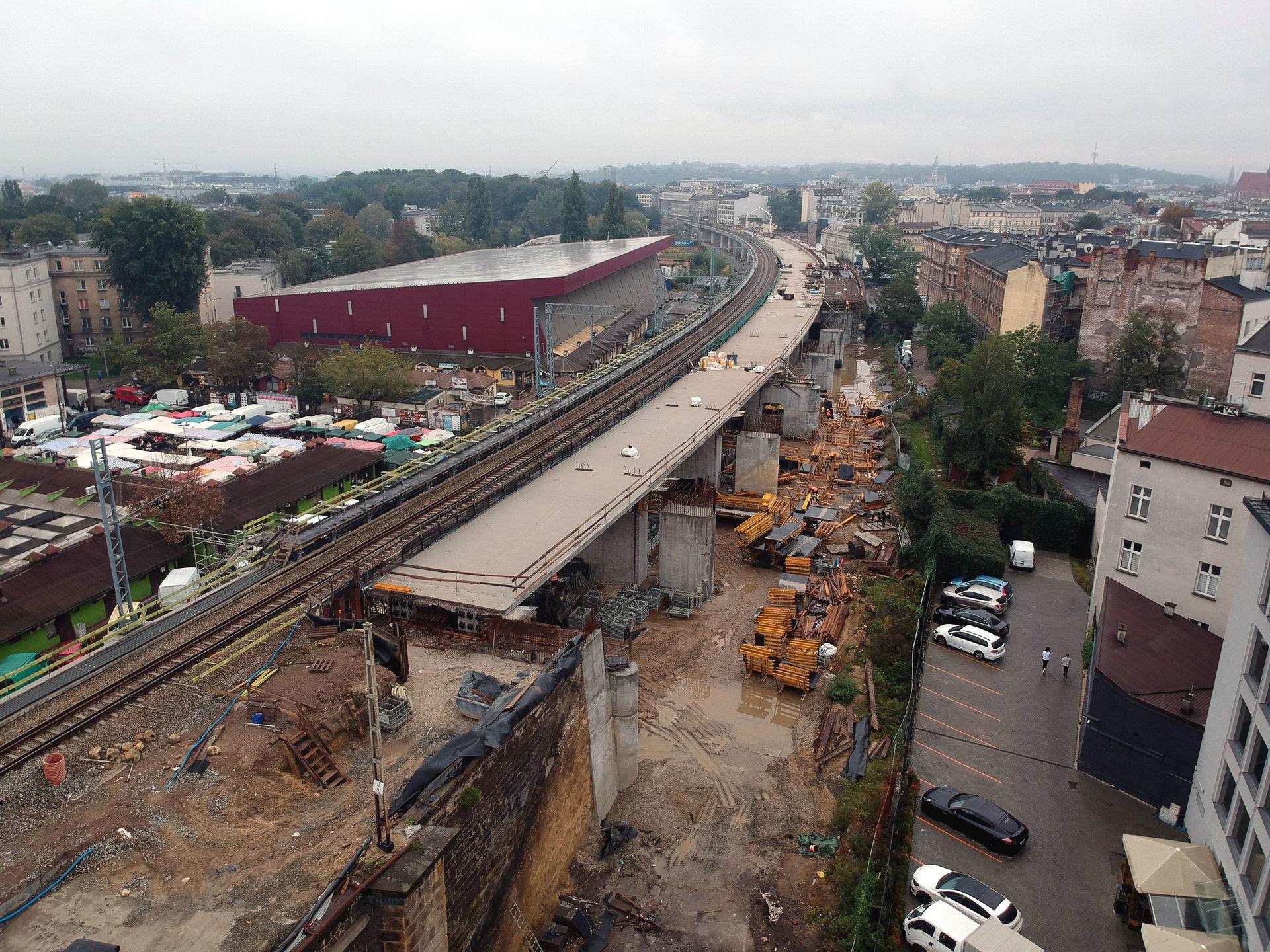 Budowa estakady w Krakowie
