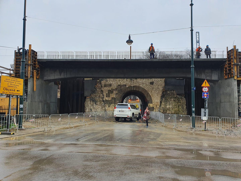 Krakow wiadukt na ul. Miodowej